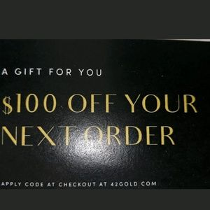 $100 42 GOLD AND CHINESE LAUNDRY.COM GIFT CERTIFIC